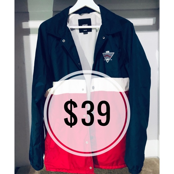 Vans Other - Red White and Blue Vans Torrey Bomber Jacket NWT✅